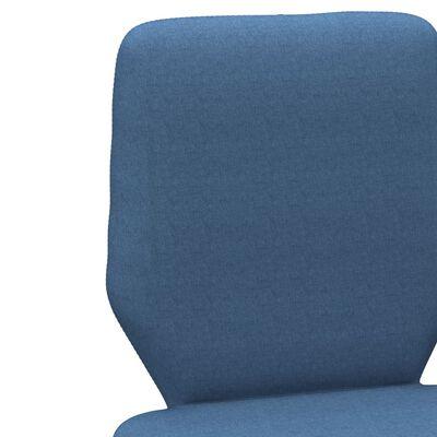 vidaXL Sillas de comedor 2 unidades tela azul