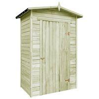 vidaXL Caseta de almacenaje de jardín de madera de pino impregnada