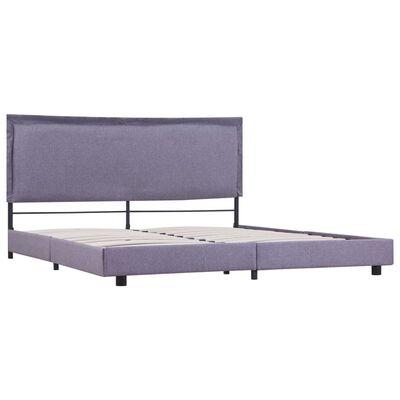 vidaXL Estructura de cama de tela gris claro 160x200 cm