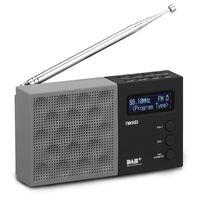 Nikkei Radio DAB portátil con despertador NDB40BK gris y negro
