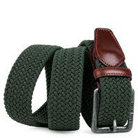 Cinturón Trenzado Elástico Verde 105