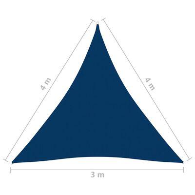 vidaXL Toldo de vela triangular de tela oxford azul 3x4x4 m