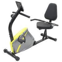 vidaXL Bicicleta estática reclinada magnética con pulsómetro