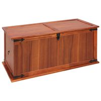 vidaXL Baúl de almacenamiento de madera maciza de acacia 79x34x32 cm