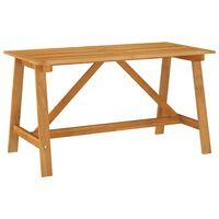 vidaXL Mesa de comedor de jardín madera maciza de acacia 140x73x73,5cm