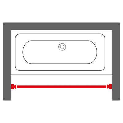Sealskin Barra telescópica para cortina de ducha gris mate 185 cm
