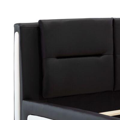 vidaXL Estructura de cama de cuero sintético negro 90x200 cm