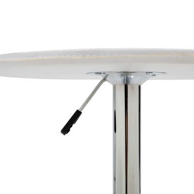 vidaXL Set mesa alta y taburetes de bar 3 pzas cuero sintético blanco