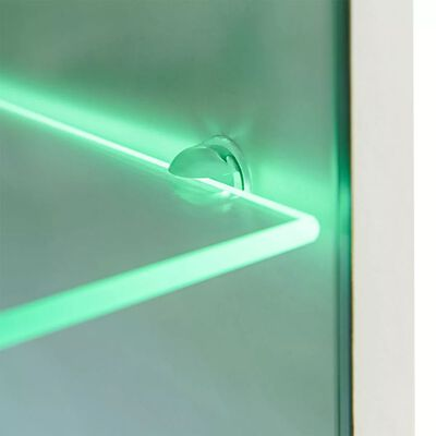 vidaXL Juego de muebles de salón 5 piezas con iluminación LED blanco