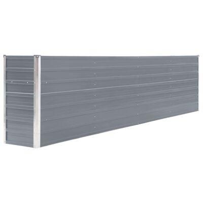 vidaXL Jardinera elevada acero galvanizado gris 320x40x77 cm