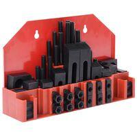 vidaXL Set de sujeción 58 piezas de acero T ranura M12