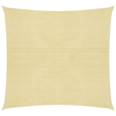 vidaXL Toldo de vela beige HDPE 160 g/m² 6x6 m