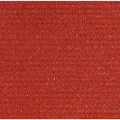 vidaXL Toldo de vela rojo HDPE 160 g/m² 5x6 m