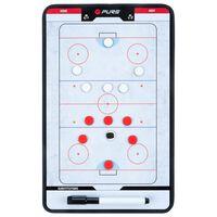 Pure2Improve Pizarra táctica de hockey sobre hielo 35x22cm P2I100640