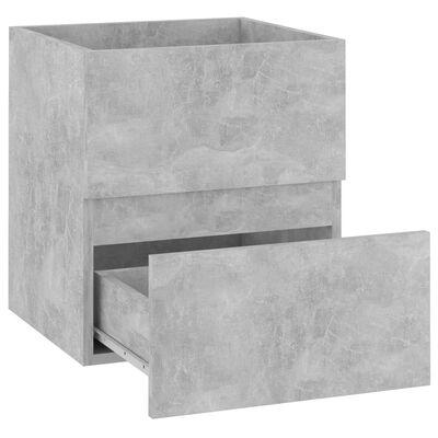 vidaXL Armario para lavabo aglomerado gris hormigón 41x38,5x45 cm