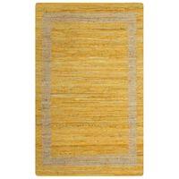 vidaXL Alfombra hecha a mano de yute amarilla 80x160 cm