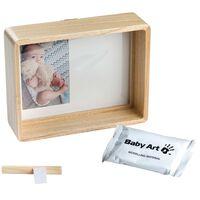 Baby Art Marco de impresion de huellas de bebé madera natural
