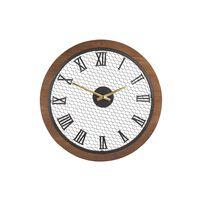 Reloj De Pared Madera Oscura Ø54 Cm Fuberos