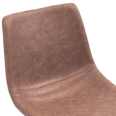 vidaXL Sillas de comedor 2 unidades cuero sintético marrón intermedio