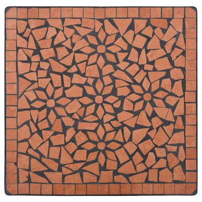 vidaXL Mesa de mosaico para cafetería cerámica terracota 60 cm
