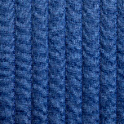vidaXL Sillas de comedor 6 unidades de tela azul