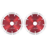 vidaXL Discos de corte de diamante 2 unidades acero 125 mm