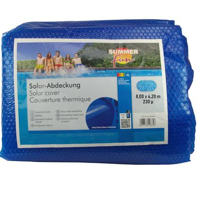 Summer Fun Cubierta solar para piscina ovalada PE azul 800x420 cm