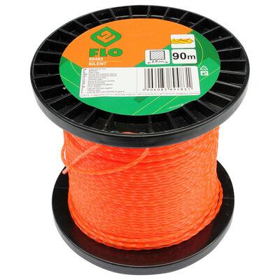 FLO Cable de cortacésped Silent naranja 2 mm 90 m