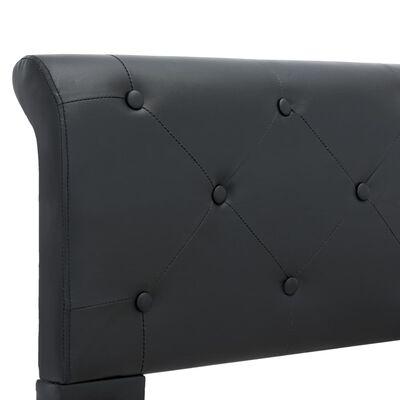 vidaXL Estructura de cama de cuero sintético negro 100x200 cm