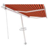 vidaXL Toldo de pie automático naranja y marrón 450x300 cm
