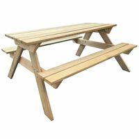 vidaXL Mesa de picnic de madera de pino 150x135x71,5 cm