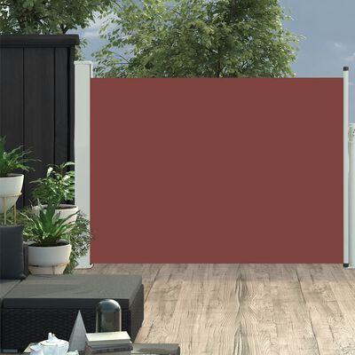 vidaXL Toldo lateral retráctil de jardín marrón 120x500 cm