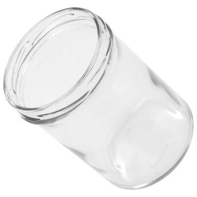 vidaXL Tarros de mermelada de vidrio tapa blanca y morado 48 uds 400ml