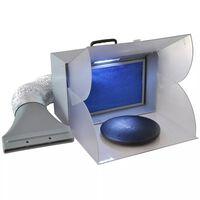Cabina de aspiración para trabajos de aerografía con LED
