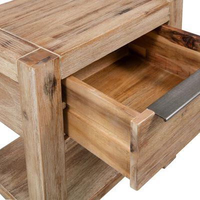 vidaXL Mesitas de noche con cajones 2 uds 40x30x48cm madera de acacia