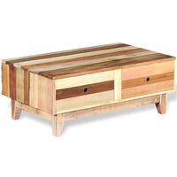 vidaXL Mesa de centro de madera reciclada maciza
