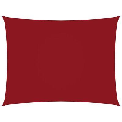 vidaXL Toldo de vela rectangular tela oxford rojo 5x6 m
