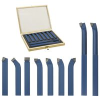 vidaXL Set de herramientas de torneado de carburo 11 pzas 12x12 mm P30