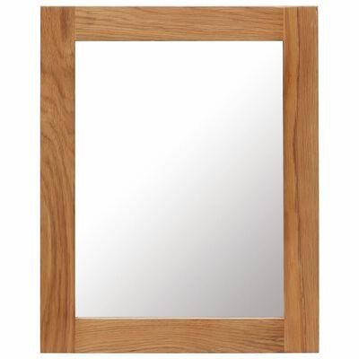 vidaXL Espejo de madera maciza de roble 40x50 cm