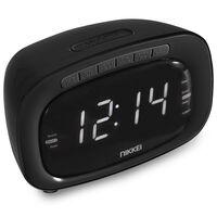 Nikkei Radio reloj despertador NR200BK negro