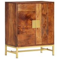 vidaXL Aparador de madera maciza de acacia 60x35x75 cm