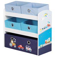 roba Unidad de almacenamiento de juguetes Racer azul 63,5x30x60 cm MDF