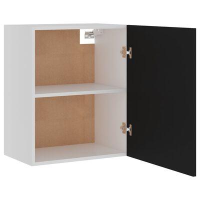 vidaXL Armario colgante de cocina aglomerado negro 50x31x60 cm