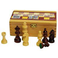 Abbey Game Fichas de ajedrez 87 mm negro/Blanco 49CL