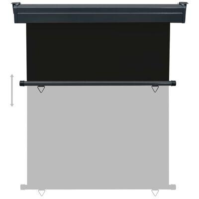 vidaXL Toldo lateral de balcón negro 140x250 cm