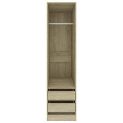 vidaXL Armario con cajones aglomerado color roble Sonoma 50x50x200 cm