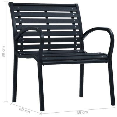 vidaXL Sillas de jardín 2 unidades acero y WPC negro