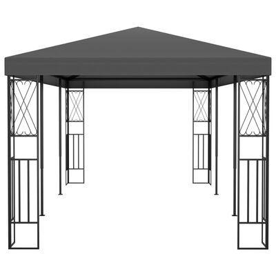 vidaXL Cenador tela gris antracita 3x6 m