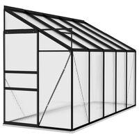 vidaXL Invernadero de aluminio gris antracita 6,5 m³