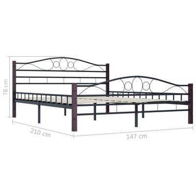 vidaXL Estructura de cama de metal negra 140x200 cm